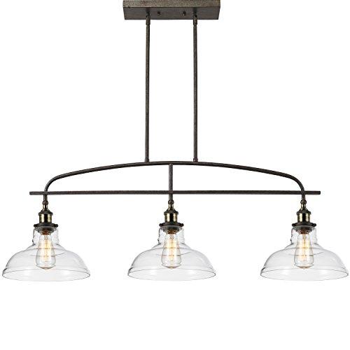 claxy ecopower kitchen linear island pendant lighting vintage lamp chandelier  3 lights island kitchen lighting fixtures  amazon com  rh   amazon com