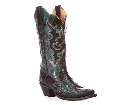 Corral Womens R1178 Boots Turquoise oj2fvlWhEd