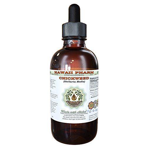 Chickweed Alcohol-FREE Liquid Extract, Organic Chickweed (Stellaria Media) Dried Above-Ground Parts Glycerite 2 oz