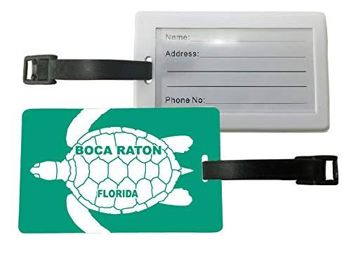 Boca Raton Florida Turtle Design Souvenir Travel Luggage Tag 2-Pack (Stores Boca Raton)