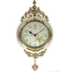 Decorative Pendulum Wooden Ivory Wall Clock 24x15