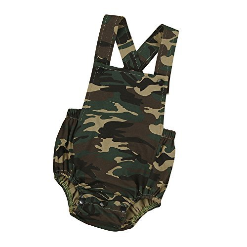 Baby Summer Sleeveless Romper, Matoen Newborn Infant Baby Camouflage Jumpsuit (0-6 months) - Camouflage Outfit