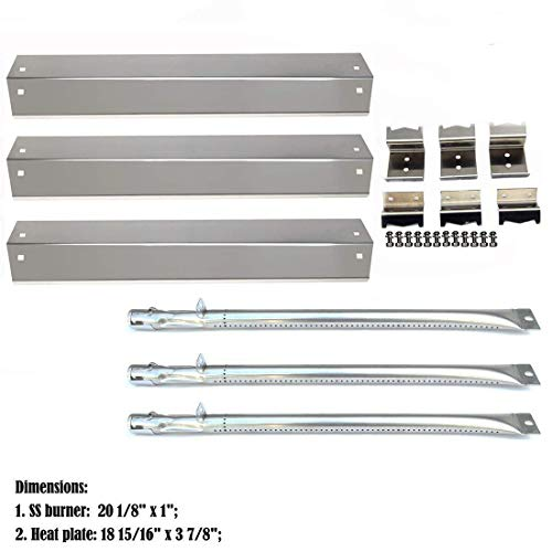 DcYourHome Replacement SS Burner SS Heat Plate Hanger Brackets for Chargriller 3001, 3008, 3030, 4000, 5050 Gas Grill