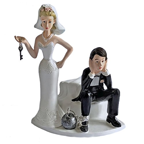 Ball and Chain Humorous Wedding Cake Topper