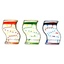 S-Shaped Dual Bubble Liquid Timers Assorted Colours. Desktop Toy. 13cm x 10cm. By Playlearn by Playlearn