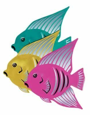 Foil Angel Fish - Beistle 55433 Foil Angelfish Silhouettes, 16-Inch