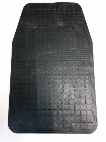 ORIGINAL SINGLE CARPET COVER PROTECTOR BLACK CAR MAT ALL RUBBER LONG