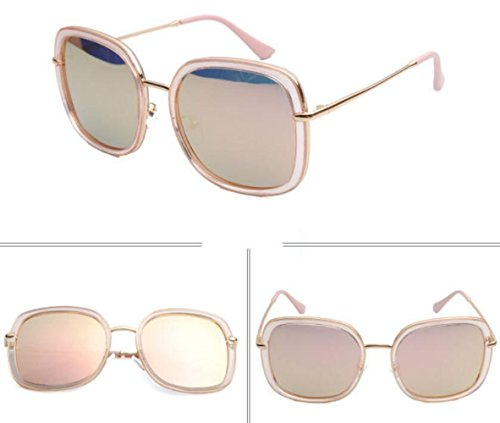 Sunglasses Sol Fashion Pink MSNHMU Beach De Gafas Travel Street Shot Lady pAqnF4E