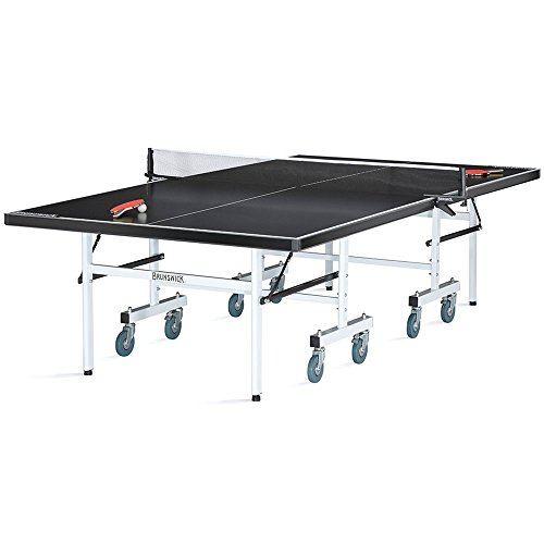 Brunswick Indoor/Outdoor Table Tennis Table – Black Smash 5.0