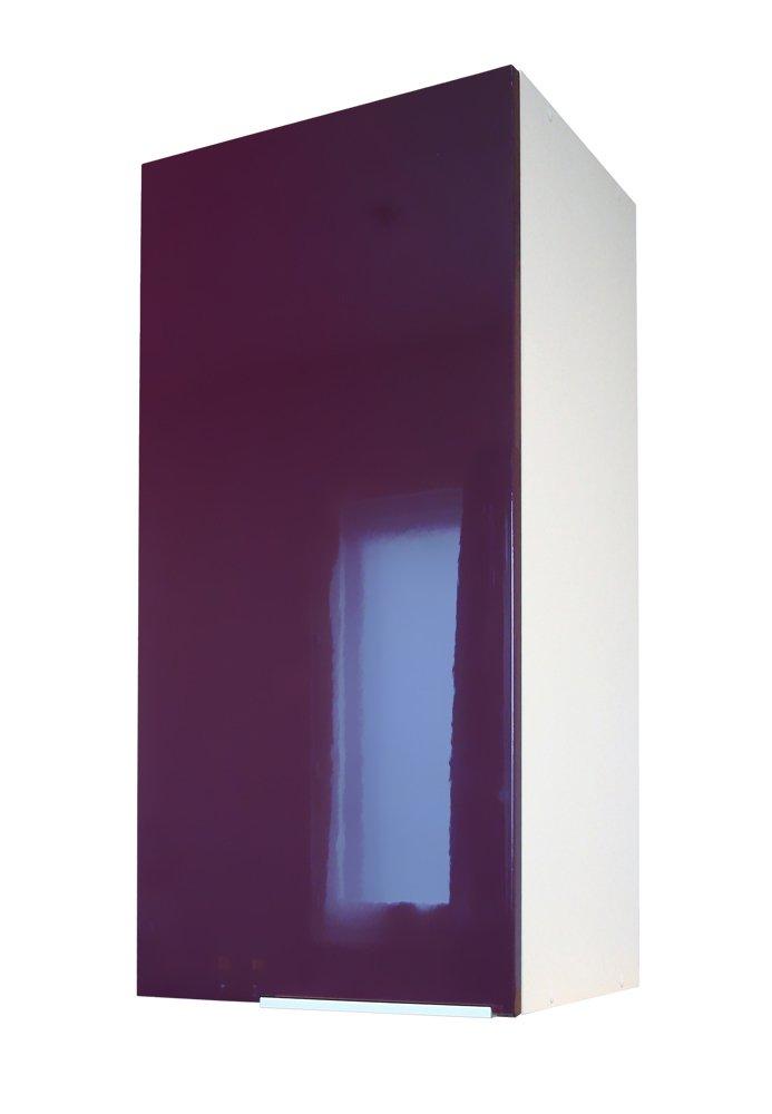 Berlenus Top Kitchen Cupboard with 1 Door, High-Gloss Aubergine, 30 cm Belenus CP3HA