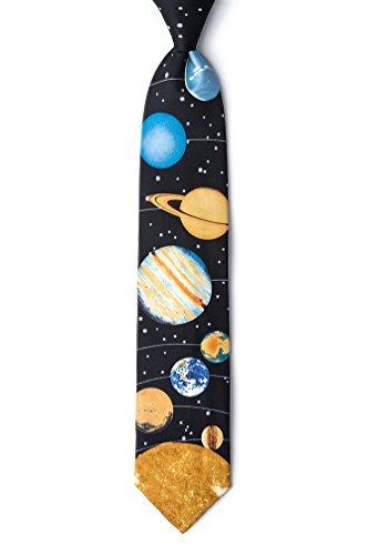 Solar Tie - Black Silk Tie | Solar System Necktie