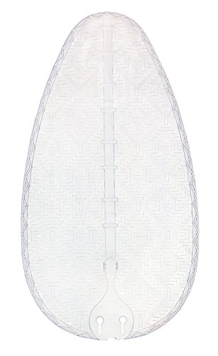 Fanimation BPD4MW Narrow Oval Composite Bamboo Blade, 22-Inch, Matte White, Set of 5