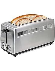 Kalorik 4-Slice Long-Slot Toaster, Stainless Steel