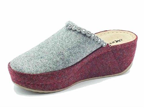 Vino Zapatillas Mujer Por Q61019 Estar De Casa Fieltro Gris Melluso Para qU6x15wE5