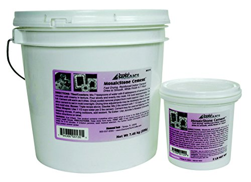 Mosaic Stone Cement - Jennifer's Mosaics Indoor Cement, 2-Pound