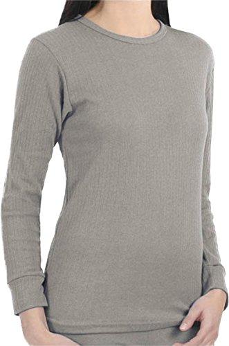 Damen Thermo Unterwäsche / Warme Unterwäsche für Sie Hemd Hellgrau