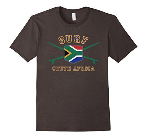 Mens SOUTH AFRICA T-Shirt | Vintage Surfing Sudafrica Tee 2XL Asphalt