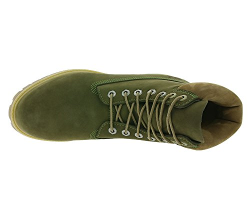 Timberland Waterproof Premium De Cuero Impermeables Botas inch Olive 6 Hombre ATxtrA