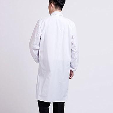 Brawdress Unisex Bata de Médico Laboratorio Enfermera Sanitaria Algodón, Mujer Hombre Camisa de Trabajo Blanca de Manga Larga S-3XL: Amazon.es: Ropa y ...