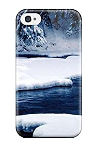 Hot Fashion GnjlFla18nlmaE Design Case Cover For Iphone 4/4s Protective Case (attractive Winter Wonderland From)