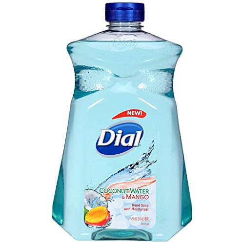 Moisturizer Dial Liquid (Dial Liquid Hand Soap with Moisturizer, Coconut Water & Mango, 52 Ounce, Pack of 2)