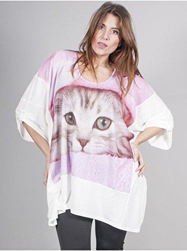 Vêtement Femme Grande Taille Tunique Sublimation Chat