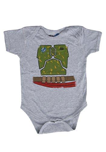 18 Month Star Wars Costume (Unisex Baby Star Wars Boba Fett Onesie 18 Months)