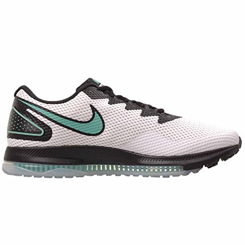 Scarpe 2 Nike all White Multicolore Running Clear Jade Uomo 101 bla Zoom out Low Uww4qBC