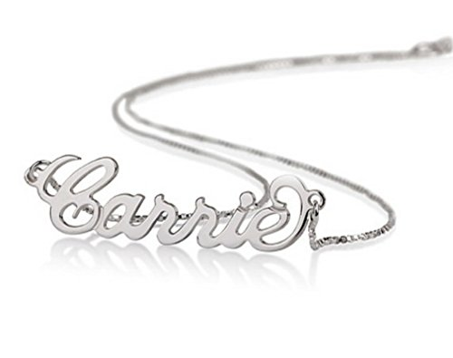 Sterling Silver Personalized Name Necklace - Custom Made Any Name (20 Inches) ()