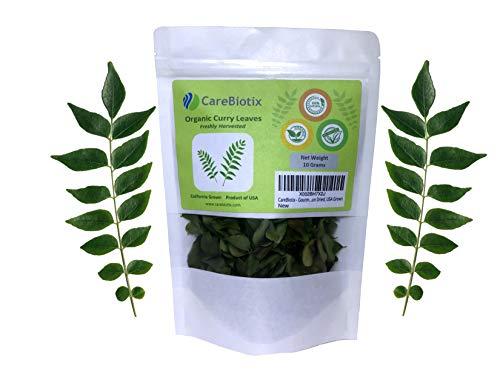 CareBiotix - Gourmet Curry Leaves - Natural, Sun Dried, USA Grown