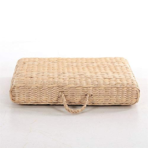Wuzhengzhijia Handmade Grass Futon Mat Futon Vine Floating Window Tea Ceremony Meditation Cushion Yoga Meditation (Color : 30cm - Floating Vines