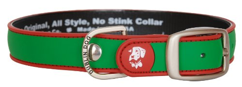 "All Style, No Stink Holiday Dog Collar, Green Red, Large 17"" x 21.5"""