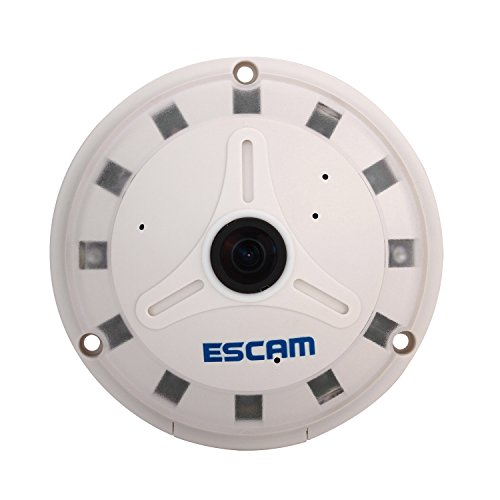 TuoP@ ESCAM QP130 UFO 960P HD 360 degree panoramic P2P IR SD card Day/night Security IP Camera