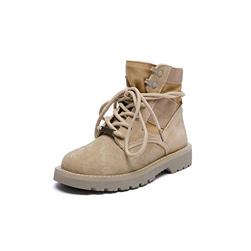 Female Taglia CN36 EU36 Locomotive Desert FF generico Color Sand Flat UK4 Boots Colore Scarpone Retro c6RXPqWR