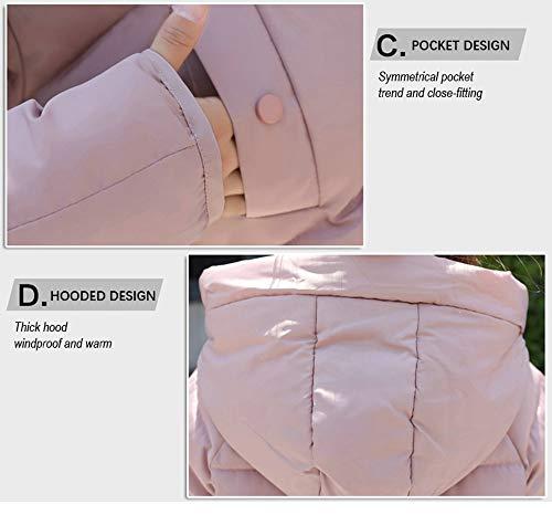 Cotone Piccolo Calda Sciolto Dotoo Inverno Pink Di Giacca Spessore Donna Abbigliamento Cappotto Breve tfzxw6qf
