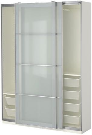 Ikea Armario, Blanco, Cristal Esmerilado Sekken 38382.81720.108 ...