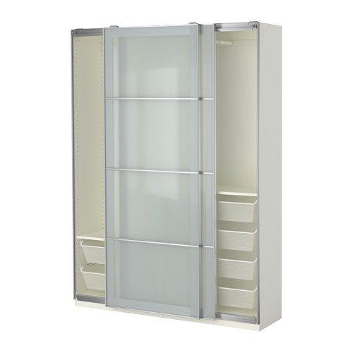Ikea Armario, Blanco, Cristal Esmerilado Sekken 38382.81720 ...