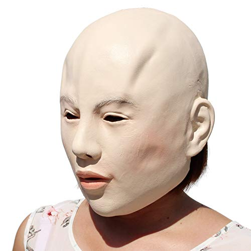 PartyCostume - Lady Mask - Halloween Latex Female Beauty Mask ()