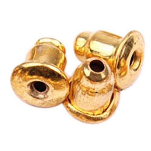 GQMART 50-Piece Bullet Clutch Earring Backs (Gold Steel Bullet) -