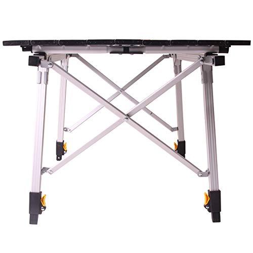 (Feifei Simple Home Restaurant All-Aluminum Folding Table Stalls Rectangular Picnic Table)