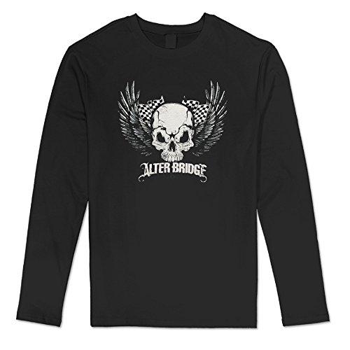 Virginia Men's Alter Bridge Skull With Wings Black Long (Wet Tshirt Winner)