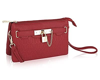 MKF Crossbody Purse for women - Removable Adjustable Strap - Vegan leather wristlet Designer messenger bag