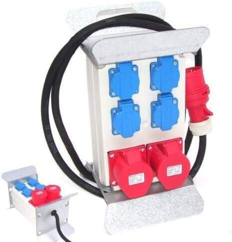 Stromverteiler Baustromverteiler 55474 Kraftstrom Starkstrom 2x400V 4x230V 16A AWZ
