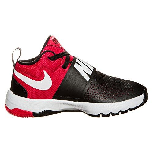 549f2b74ad9d Galleon - NIKE Kids Team Hustle D 8 Basketball Shoe (GS)  Black White University Red 6.5Y