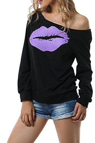Hey~Yo - Sudadera - para mujer Negro Púrpura