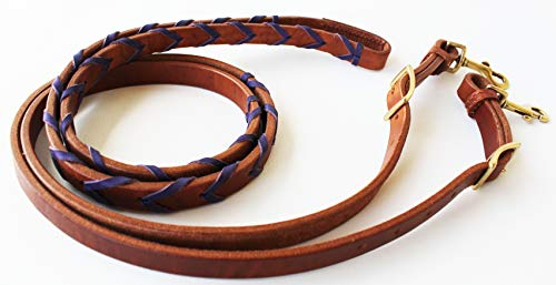 CHALLENGER Amish USA Horse Leather Purple Laced Barrel Contest Roper Reins Tack 66RT10PR
