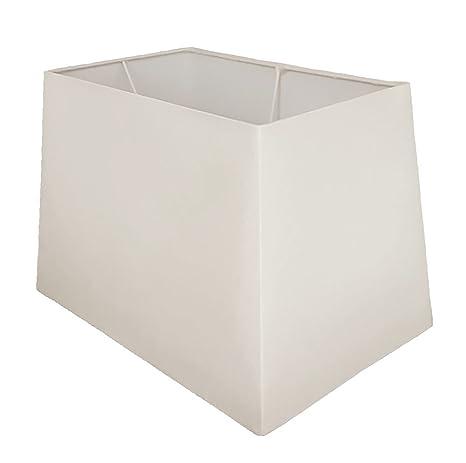 Pantalla de lámpara de 38 cm de forma rectangular para mesa ...