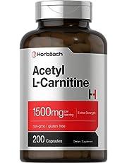 Acetyl L-Carnitine 1500 mg 200 Capsules | ALCAR | Non-GMO, Gluten Free | by Horbaach