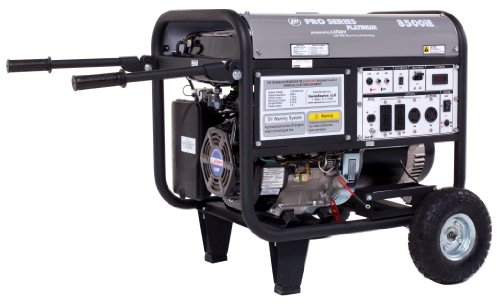 Lifan Platinum Series LF8500iEPL 8500 Watt Comercial/Contractor/Rental Grade 15 HP 420cc OHV Gas Powered Portable Generator with Electric Start and Wheel Kit (CARB (Halloween Rent)