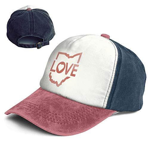 Fashion Vintage Hat I Love Ohio Adjustable Dad Hat Baseball Cowboy - Ohio Womens Cap